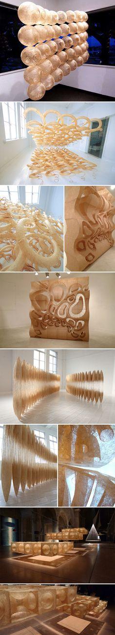 Jute, textile, soft sculpture, Japan society, naoko serino