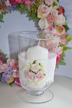 Creativite / Shabby váza alebo svietnik