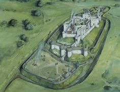 Helmsey Castle Reconstruction England 1290 AD