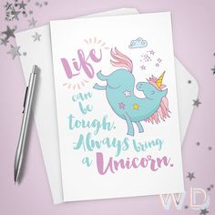 66 best greeting cards images on pinterest card stock carton box greeting card unicorn always bring a unicorn stationery note card sympathy grief motivational thinking of you inspirational m4hsunfo