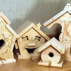 Easy bird house plans for fuctional feeder and homes for birds #birdhouseideas