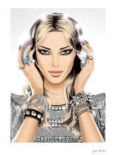 Jason Brooks: Award winning artist and illustrator specialising in fashion, music,design,interiors and lifestyle illustrations. Covet Fashion, Fashion Art, Fashion Music, Fashion Beauty, Jason Brooks, Cecil Beaton, Grafik Design, Beauty Art, Kandi