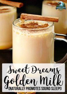 Warm Milk Sleep, Warm Milk Recipe, Golden Milk Recipe With Coconut Oil, Milk Recipes, Real Food Recipes, Sleep Drink, Organic Coconut Milk, Gluten Free Blueberry, Turmeric Tea