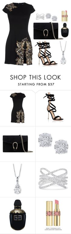 """Untitled #236"" by pehpalad on Polyvore featuring Dsquared2, Gianvito Rossi, Gucci, Effy Jewelry, Alexander McQueen and Yves Saint Laurent"
