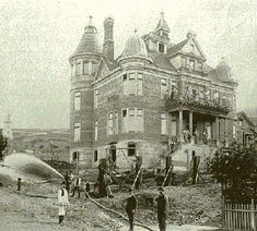 The mansion of Alfred 'Nobby' Clarke, a notorious member of the San Francisco police force during the second half of the 19th century. Got rich making loans to hapless patrolmen. Very rich, it appears