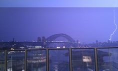 Lightning Sydney Harbour Bridge  Submitted by: @lizlillis  April 8, 2012