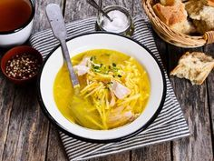 Forget the canned chicken soup and make this homemade version instead! Use well-seasoned chicken and savory egg noodles to make this warm and delicious recipe.