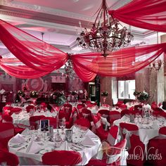 Event Draping - Red Voile