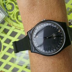 Vintage Swiss Swatch Watch Flash For Restore Needs new band and battery. New old stock. Heat and age cracked  the plastic  band. You can get a brand new one from squiggly. Circa 1990s. Swatch  Accessories Watches