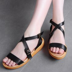 Women's Contrast Wedges Cross-Strap Sandals, Target For Work Ugg Compression Socks Jimmy Choo Best Jeans Leather Jacket Asics Work Outfits Trendy Sandals, Summer Sandals, Navy Wedding Shoes, Beach Bridesmaid Dresses, Wedding Mint Green, One Sleeve Dress, Jelly Sandals, Best Jeans, Black Leather Handbags