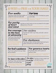 Praying for your family can help you focus on what's really important. Here are 10 ways to pray for your own family
