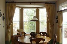 drapes framing bay