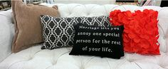 Mix and Match Pillows from HomeGoods