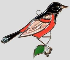 Stained Glass Art by Glass Illusions - Bird Hangings
