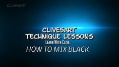 How To Mix Black | Acrylic painting for beginners,clive5art