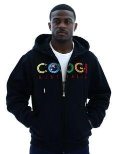 Coogi Men's Zip Up Hoodie Hooded Jacket