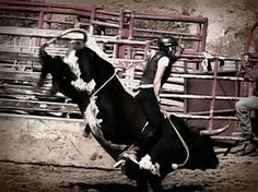 Maggie Parker - only female bull rider!!  Cowgirl up