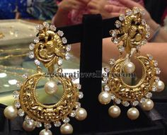 Jewellery Designs: Parrot Embellished Chandbalis 45gms