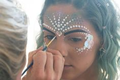 When I was in Ibiza me and the girls went to Zoo Project and wanted to look amazing! I have worked a bit with the embellishment brand 'In Your Dreams' in the UK and noticed they had someone over in Ibiza working so I got in touch. MUA Katy Gill came over to our apartment and dulled us all up Zoo Project style. I decided to go as a mermaid and my friends were a peacock, zebra and flamingo. Katy had done some research before coming to us so she had lots of ideas! She was honestly amazing…