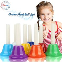 Ehome Hand Bells Set, 8 Note Diatonic Metal Bells, Musial Bells for Kids, Children and Toddlers, Musical Learning at an Early Age, Musical Toy Percussion Instrument.         *** Be sure to check out this awesome product. (This is an affiliate link) #MusicalInstruments