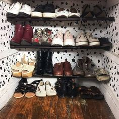 And mount tension rods in the bottom of your closet to make an instant shoe storage rack. Shoe Storage Small, Shoe Storage Rack, Shoe Rack Hacks, Closet Hacks, Closet Organization, Organisation, Bedroom Decor On A Budget, Bedroom Ideas, Small Closets