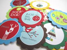 Holiday #Christmas #Gift Tags with Season Greetings Phrases by @adorebynat #ArtFire