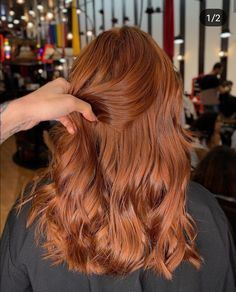 Pink-Red with Yellow Highlights - 20 Cool Styles with Bright Red Hair Color (Updated for - The Trending Hairstyle Hair Color Auburn, Auburn Hair, Red Hair Color, Long Red Hair, Brown Blonde Hair, Dark Hair, Natural Red Hair, Medium Hair Styles, Curly Hair Styles