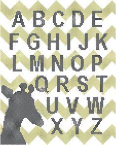 Modern Alphabet Cross Stitch Pattern by oneofakindbabydesign