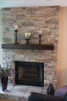 34 Beautiful Stone Fireplaces That Rock Stone fireplaces Stone