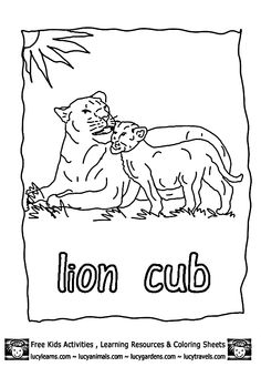 zoo worksheets SheetsLucy Lion Coloring Pages Kids Zoo Animal