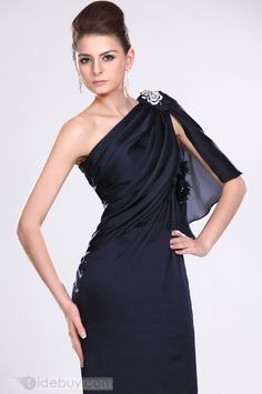 Gorgeous Mermaid Ankle Length One Shoulder Empire Evening/Event Dresses (Free Shipping)