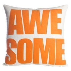 Awesome Polyester Throw Pillow
