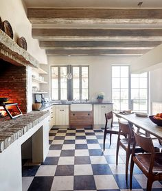 The Ultimate Cozy: Kitchen Fireplaces Kitchen Inspiration   The Kitchn