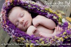 Ravelry: Peek-a-Boo Pod Newborn Photography Prop pattern by Tricia Drake