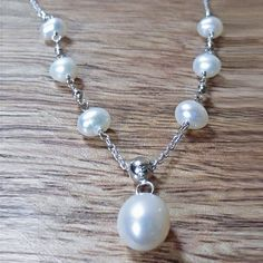 Sterling Silver & Freshwater pearl delicate necklace