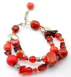 Red double layered bracelet