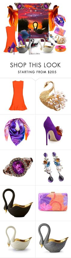 """""""There Is No Such Thing As An Ugly Duckling"""" by sharee64 ❤ liked on Polyvore featuring Victoria, Victoria Beckham, Leona Lengyel, Brian Atwood, LE VIAN, L'Objet, Serpui and Liza Schwartz"""