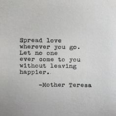 love quotes & We choose the most beautiful Mother Teresa Love Quote Typed on Typewriter for you.Mother Teresa Love Quote Typed on Typewriter - White Cardstock most beautiful quotes ideas Now Quotes, Words Quotes, Quotes To Live By, Life Quotes, Quotes On Love, Change Quotes, No Ones Perfect Quotes, Hang On Quotes, Sayings
