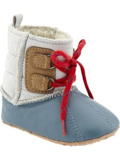 Lace front infant/baby boot.