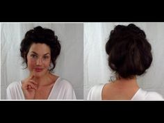 EASY Edwardian Mr Selfridge Kitty hair tutorial (gibson girl Victorian updo style) -- VINTAGIOUS - YouTube