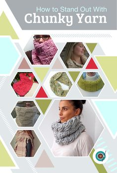 How to Stand Out with Chunky Yarn! I can't wait to try these cute crochet patterns!