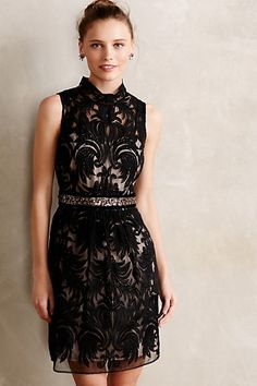 GOR-geous!! Overture Tulle Sheath - anthropologie.com