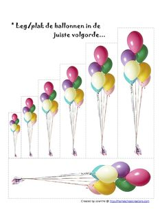 * Leg/plak de ballonnen in de juiste volgorde...