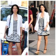 ❦ Lucy Liu filming Elementary in New York City (Aug 15)