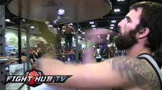 Mystery man performs craziest speed bag routine ever.  Boxing good times