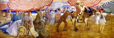 Mural  Under the Striped Umbrella (from Hotel Shelburne murals)  Frederick C. Frieseke - 1906