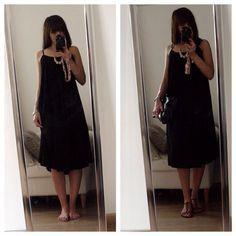Petite Robe Noire à partir d'un rectangle de tissu (une poule à petits pas)