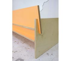 Birch plywood sofa back (would love to try making a version of this-- beautiful approach)