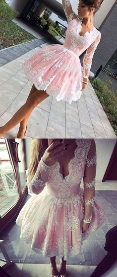 homecoming dresses,long sleeves homecoming dresses,v-neck homecoming dresses,short homecoming dresses,lace homecoming dresses,fashion homecoming dresses,