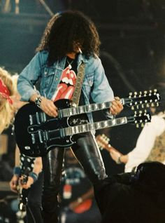 Slash - at the Freddie Mercury tribute concert.